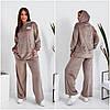Модний жіночий спортивний костюм бежевий з велюру (4 кольори) VV/-14023