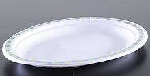 Паперові тарілки овальні 26 х 19 см 50 шт Чінет мозаїка