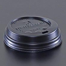 Кришки для стаканів 200-250 мл  Huhtamaki чорні d 80 100 шт
