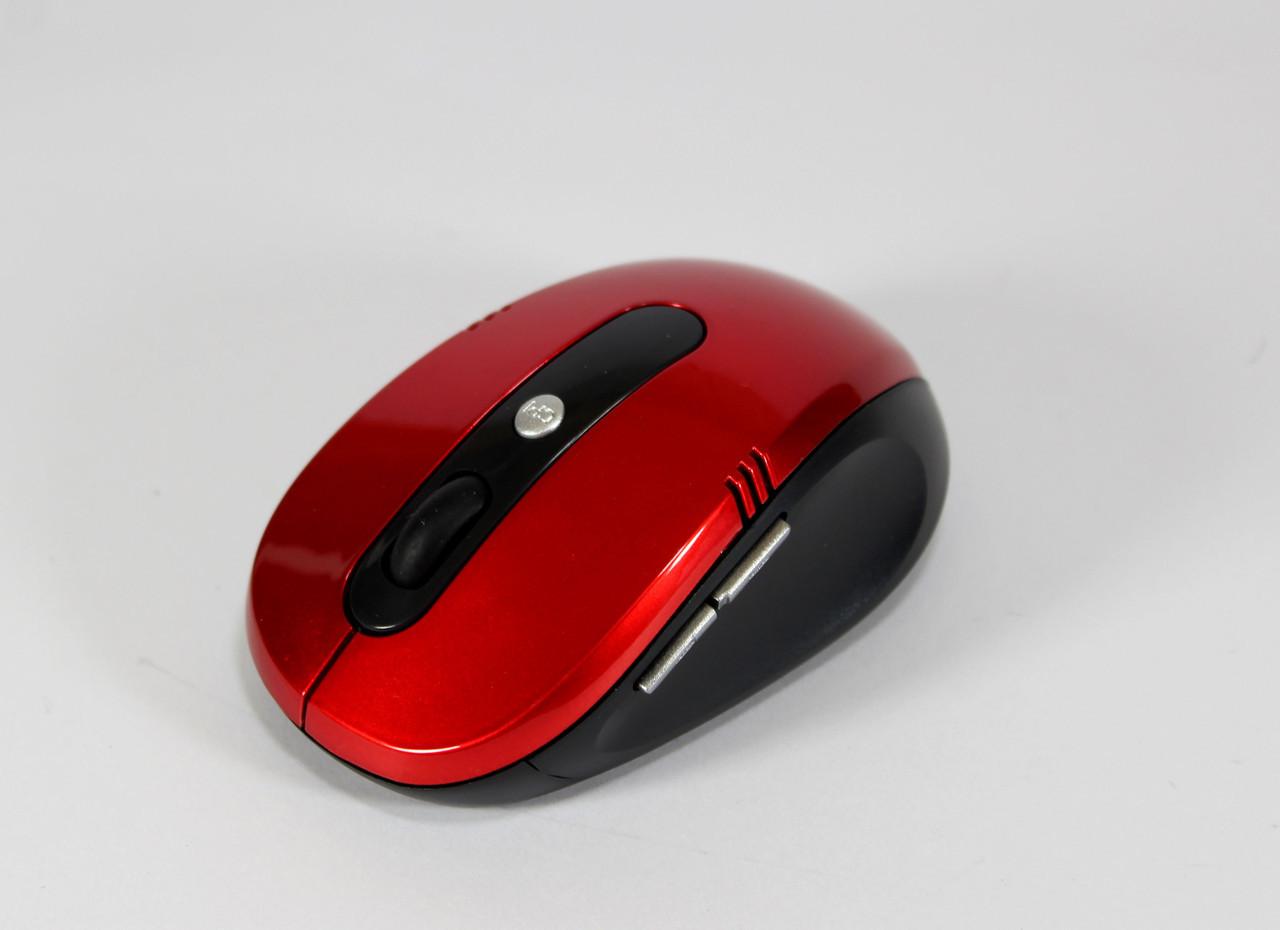 Безпровідна оптична мишка G-108 червона, коліщатко + 4 кнопки
