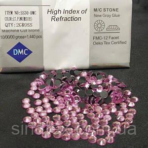 SS30 термоклеевые стразы дмс (dmc Китай) col: LT. PINK (ДМС-055)