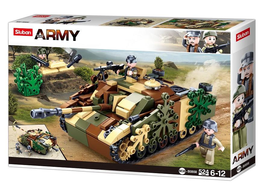 "Конструктор Sluban M38-B0858 Немецкий танк StuG III "" 524 дет"
