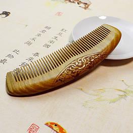 Расческа из сандалового дерева С резьбой светлая