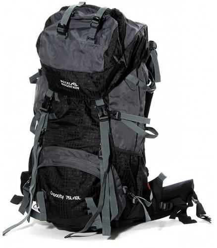 Качественный рюкзак туристический нейлон Royal Mountain 75 л. 8330 black