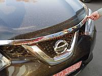 Хром капота для Nissan X-Trail 2014+