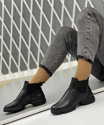 Ботинки женские Евро-Зима 6 пар в ящике черного цвета 36-40, фото 3