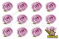 Бутоны Роз Светло-розовые из фоамирана (латекса) 2 см 10 шт/уп