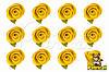 Бутоны Роз Желтые из фоамирана (латекса) 2 см 10 шт/уп