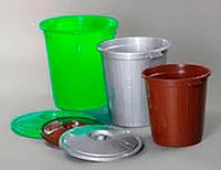 Бак с крышкой 70л d-480 h-520 цвет в ассортименте AL-PLASTIK