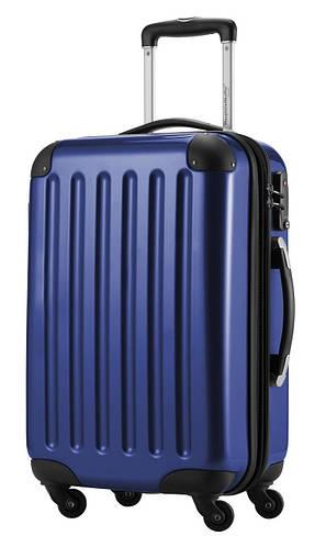 Качественный 4-колесный пластиковый малый чемодан 45 л. HAUPTSTADTKOFFER alex mini dark blu синий