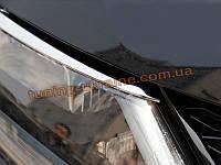 Хром передних фар (окантовка) Nissan X-Trail 2014+