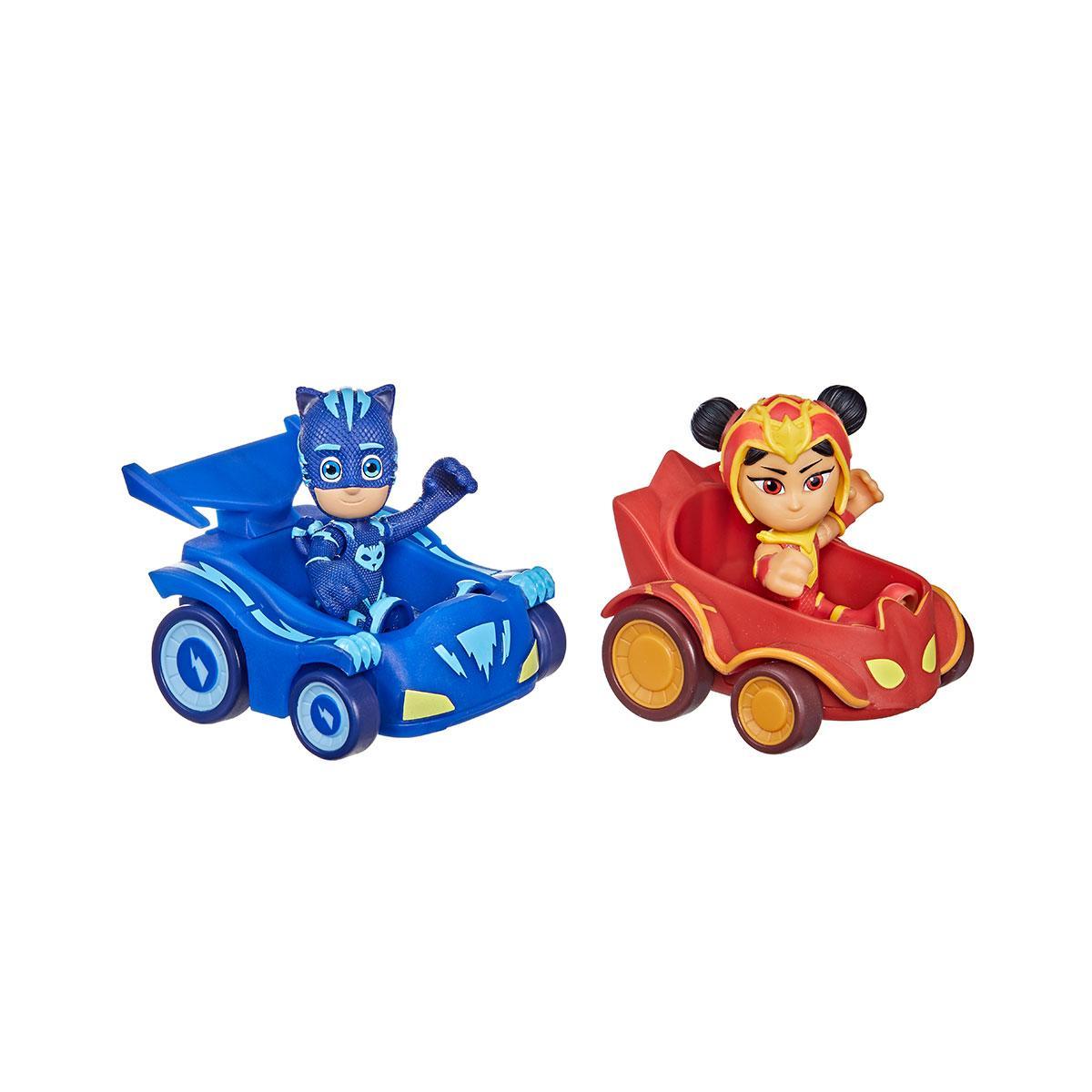 Игровой набор герои в масках - кэтбой против ан ю (2 фигурки, 2 машинки)