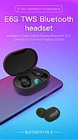 Бездротові навушники Bluetooth гарнітура T12 з повербанком, музика СТЕРЕО в 2 вуха