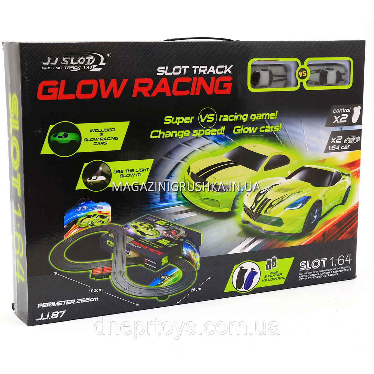 Автотрек JJ SLOT Glow Racing JJ 87, на радіокеруванні в коробці