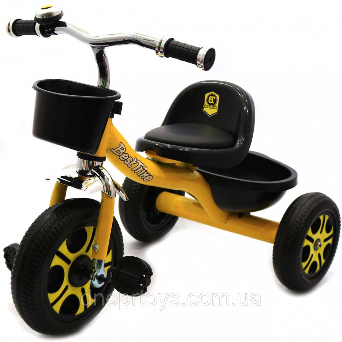 Велосипед детский трёхколёсный Best Trike Желтый (LM-9033)