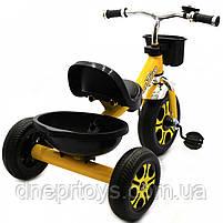 Велосипед детский трёхколёсный Best Trike Желтый (LM-9033), фото 3