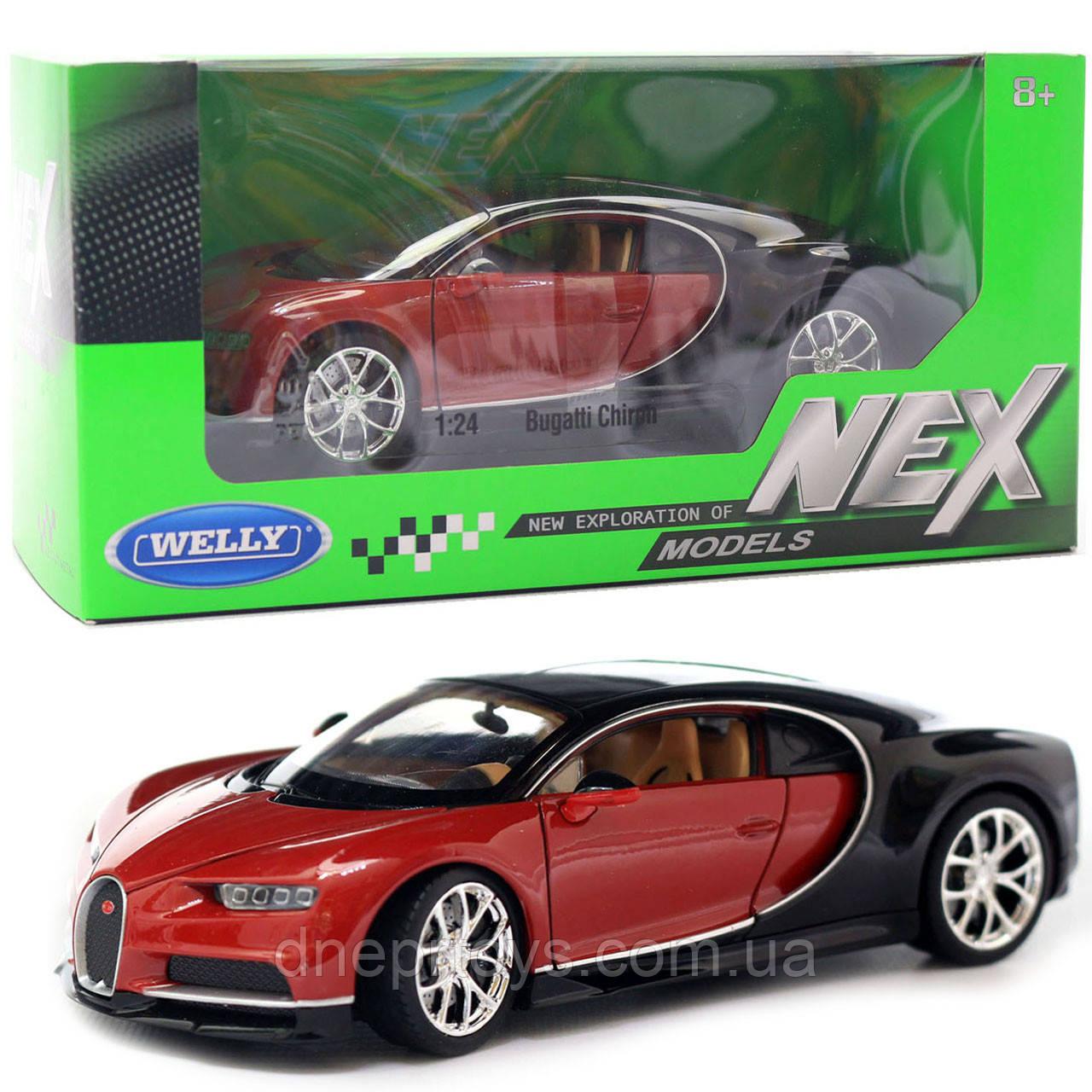 Іграшкова машинка Welly Nex «Країна Іграшок» Бугатті Широн, коричневий, 18 см (24077W)