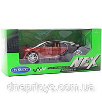 Іграшкова машинка Welly Nex «Країна Іграшок» Бугатті Широн, коричневий, 18 см (24077W), фото 2
