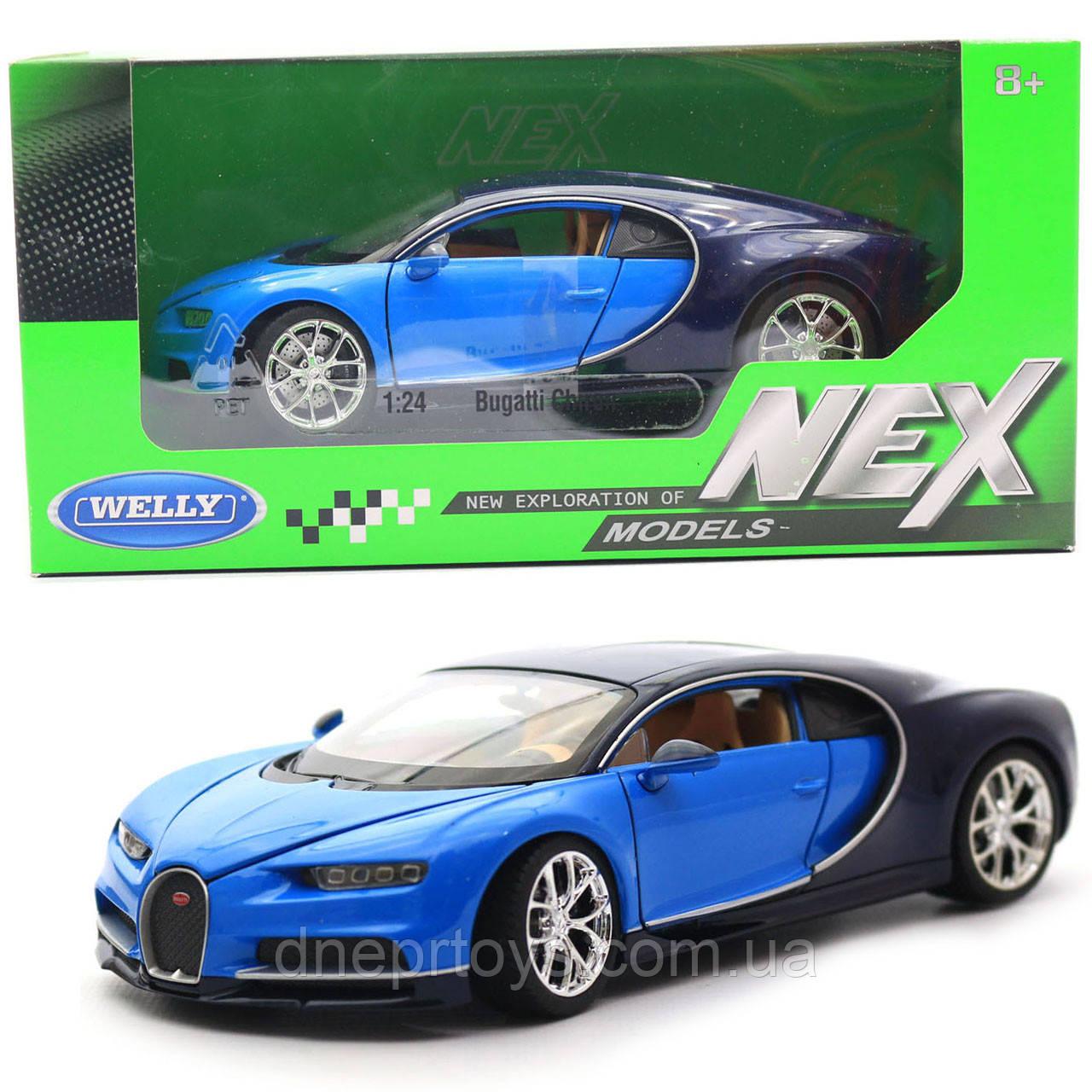 Іграшкова машинка Welly Nex «Країна Іграшок» Бугатті Широн, синій, 18 см (24077W)