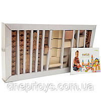 Деревянный конструктор Левеня Cubika Дом сборный LB-2, 119 деталей (11544), фото 4