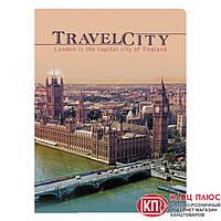 "YES Блокнот А4 / 96 листов 7БЦ фольга ""Тravel City""  арт. 150871"