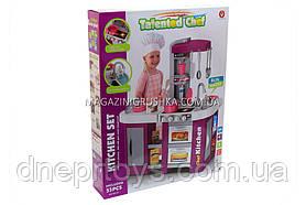 Дитяча іграшкова кухня з посудом Фіолетова (світло, звук, вода) 53 елементи арт. 922-47