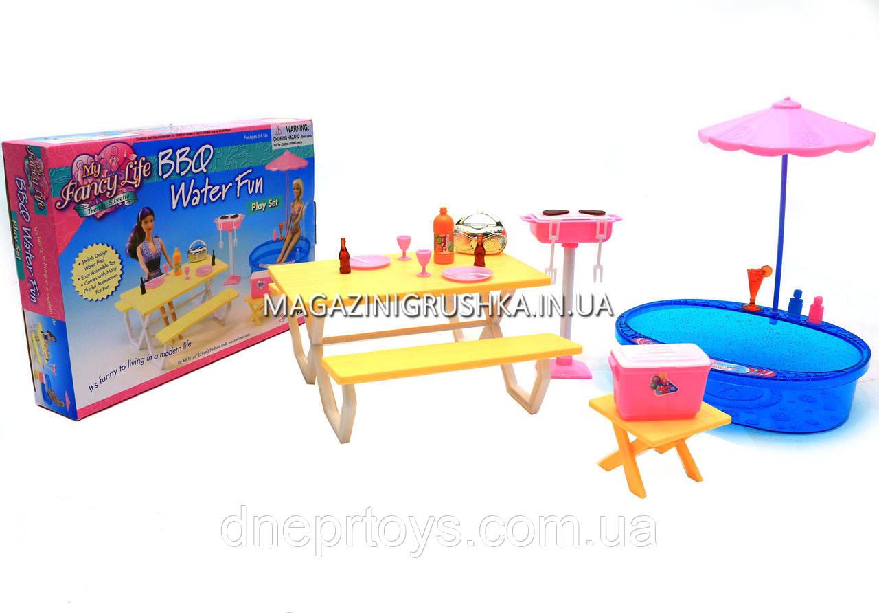 Детская игрушечная мебель Глория Gloria для кукол Барби Бассейн 1679. Обустройте кукольный домик