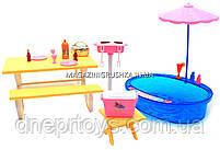 Детская игрушечная мебель Глория Gloria для кукол Барби Бассейн 1679. Обустройте кукольный домик, фото 4