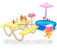 Детская игрушечная мебель Глория Gloria для кукол Барби Бассейн 1679. Обустройте кукольный домик, фото 5