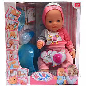 Интерактивная кукла Baby Born (беби бон). Пупс аналог розовый 10 функций беби борн 8006-16