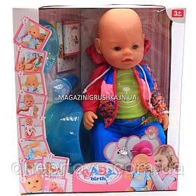 Интерактивная кукла Baby Born (беби бон). Пупс аналог с одеждой и аксессуарами 10 функций беби борн 8006-12