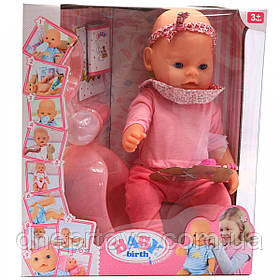 Интерактивная кукла Baby Born (беби бон). Пупс аналог с одеждой и аксессуарами 10 функций беби борн 8006-23