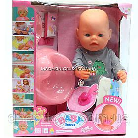Интерактивная кукла Baby Born (беби бон). Пупс аналог с одеждой и аксессуарами 9 функций беби борн 8006-453