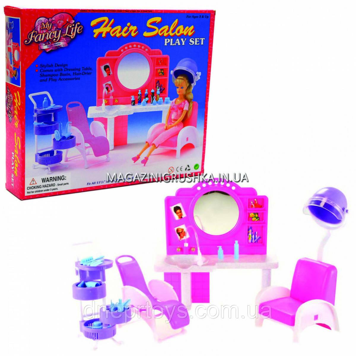Дитяча іграшкова меблі Глорія Gloria для ляльок Барбі Перукарський салон 96009. Облаштуйте ляльковий будиночок