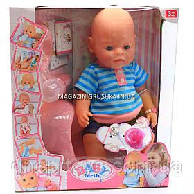 Интерактивная кукла Baby Born. Пупс аналог с одеждой и аксессуарами 10 функций беби борн 8006-18