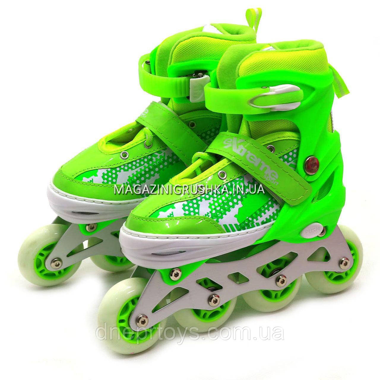 Детские ролики Салатовый (размер 35-38, металл, колёса ПУ) RS18005