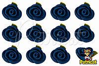 Бутоны Роз Сланцевые из фоамирана (латекса) 2 см 10 шт/уп