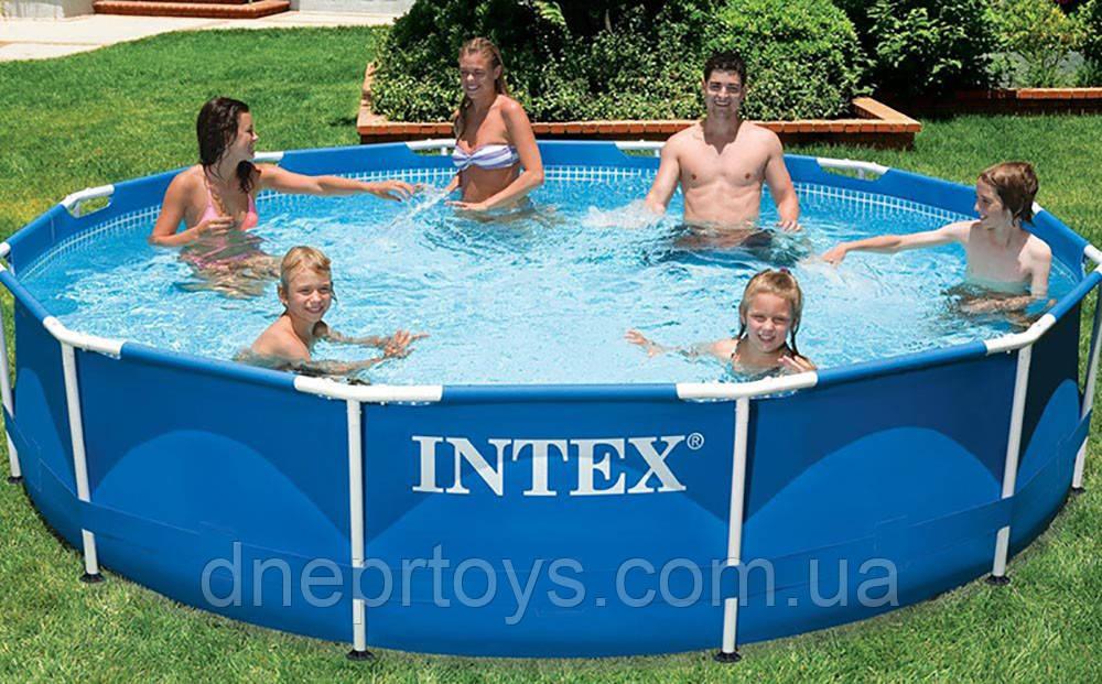 Круглий каркасний басейн Intex 28200 (305х76 см) Metal Frame Pool