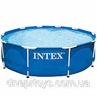 Круглий каркасний басейн Intex 28200 (305х76 см) Metal Frame Pool, фото 3