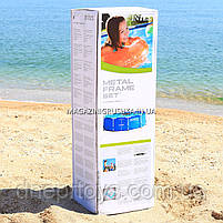 Круглий каркасний басейн Intex 28200 (305х76 см) Metal Frame Pool, фото 4