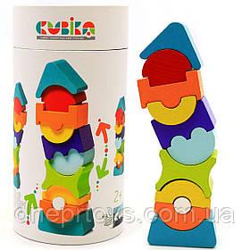 Детский деревянный конструктор Пирамида Cubika(Кубика) 12862. Деревянные эко игрушки
