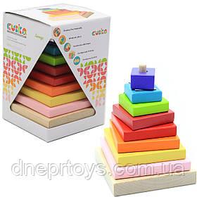 Детский деревянный конструктор пирамидка LD-5 Cubika (Кубика), 10 деталей (12329)
