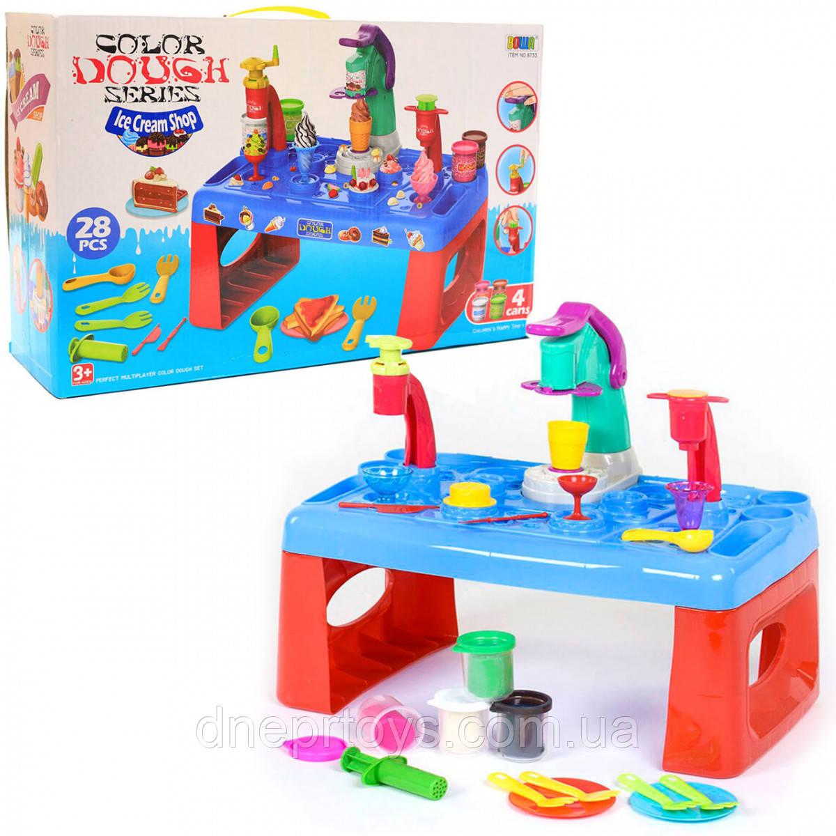 Дитячий набір для творчості пластилін 28 предметів, верстат (MK 3880)