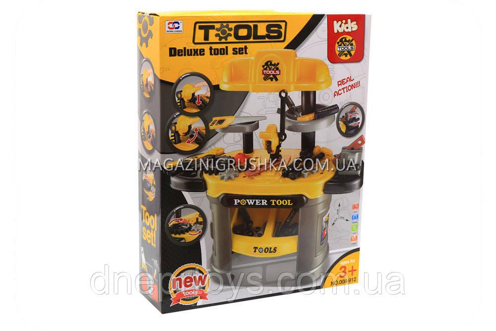 Детский набор строительных инструментов верстак 50 деталей 008-912
