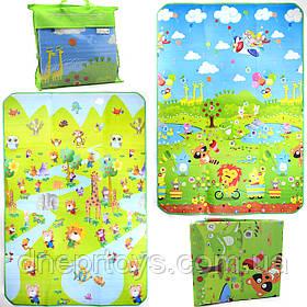 Игровой детский коврик EVA двусторонний в сумке, 180х120 см (00111)