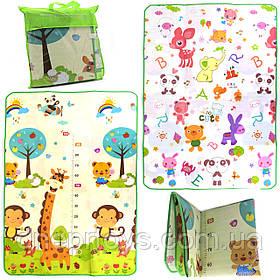 Игровой детский коврик EVA двусторонний в сумке, 180х120 см (00296)