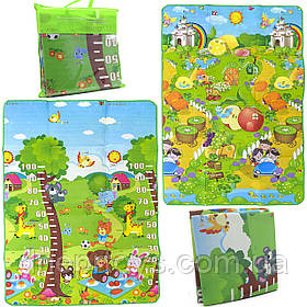 Игровой детский коврик EVA двусторонний в сумке, 180х120 см (36557)