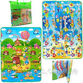 Игровой детский коврик EVA двусторонний в сумке, 180х120 см (36559)