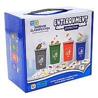 Настольная игра развивающая «Охрана окружающей среды» Renbo Toys, Сортировка мусора, 21*18*11 см, (1988), фото 3