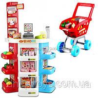 Ігровий набір «Магазин супермаркет 668-20 з касою і візком», фото 2